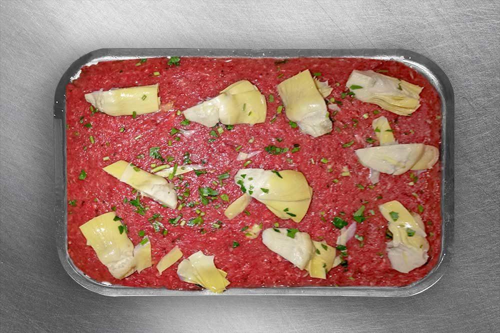 Tartare di cavallo con tartufo e carciofi | Macelleria Equina Gallina 2.0